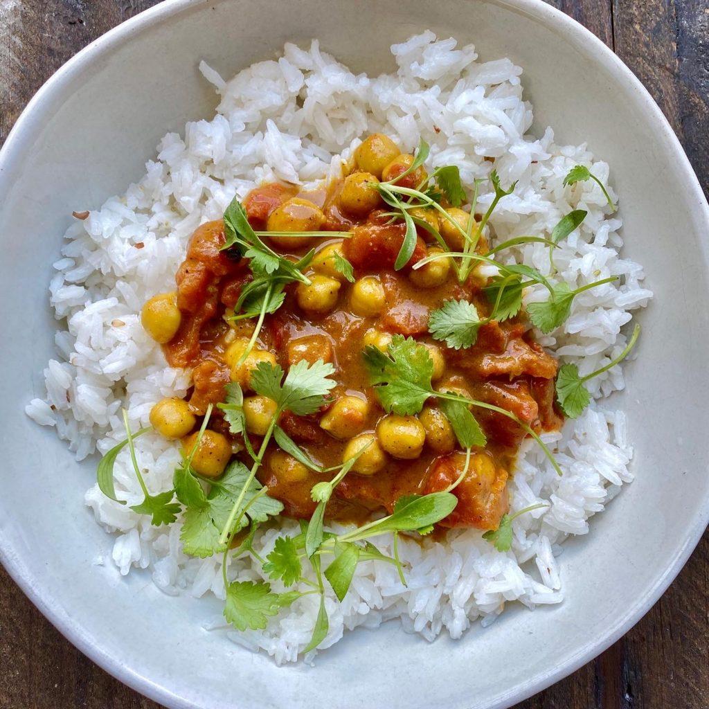 Simple Garam Masala Chickpea Curry